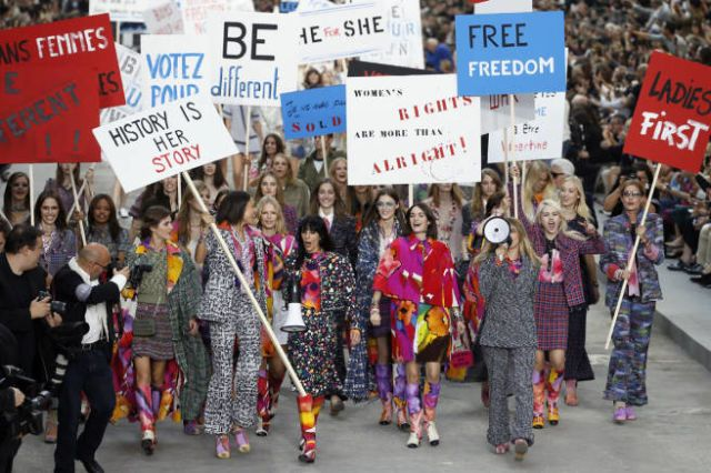 Chanel Spring feminist charged campaign (2016).